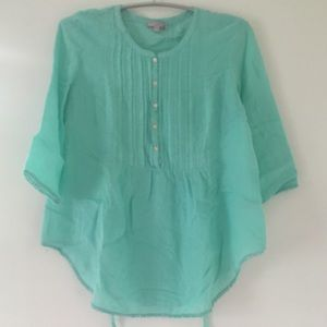 Turquoise Calypso St Barth's tunic top